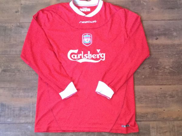 2002 2004 Liverpool L/s Football Shirt Adults Medium